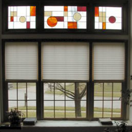 Stained Glass Overlay provides privacy while still allowing the transmission of light. The product is lightweight, seamless, air tight, water tight, and contains ultraviolet inhibitors to protect from fading.